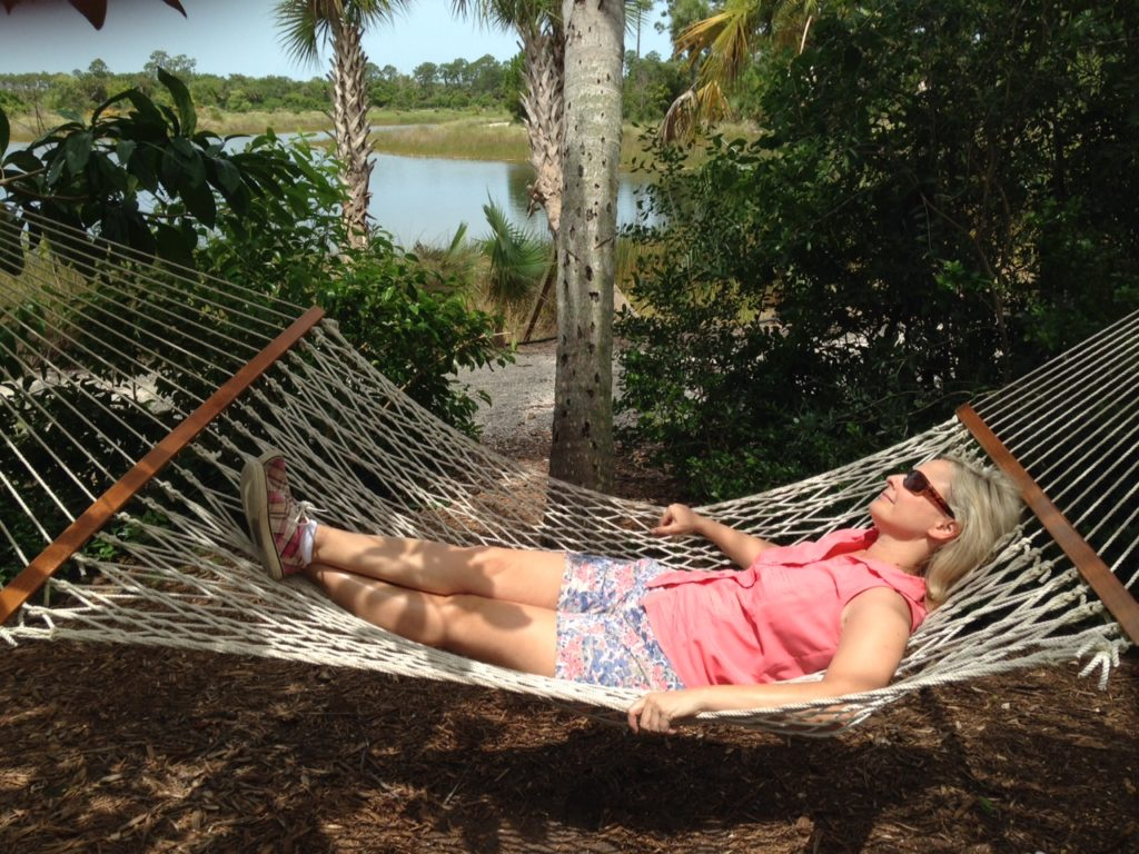 Hanging out on hammock